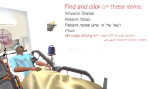 The Virtual Patient in an Interactive Clinical Scenario